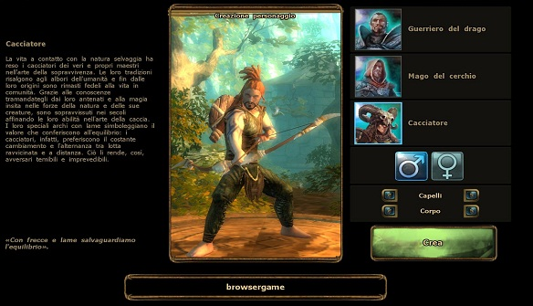 Fase di selezione della classe - Drakensang Online browser game gratuito