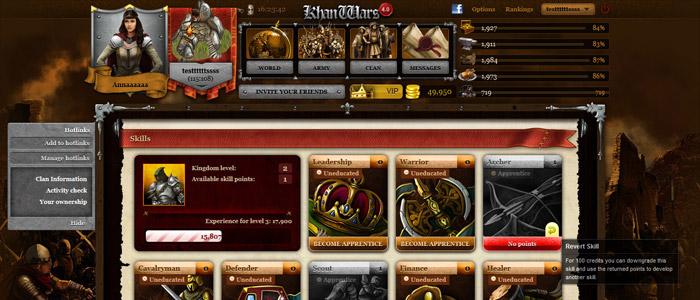 Khan Wars gioco di strategia online ad ambientazione medioevale