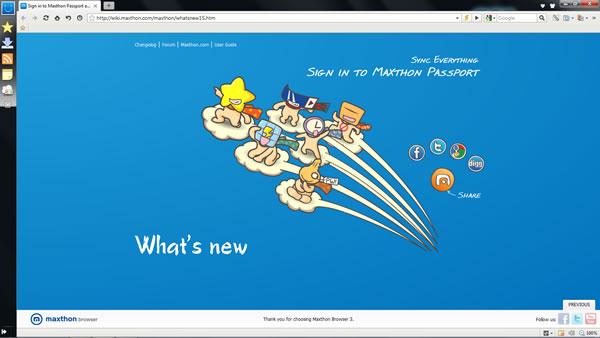 Il miglio browser internet? Maxthon 3, meglio anche di Chrome