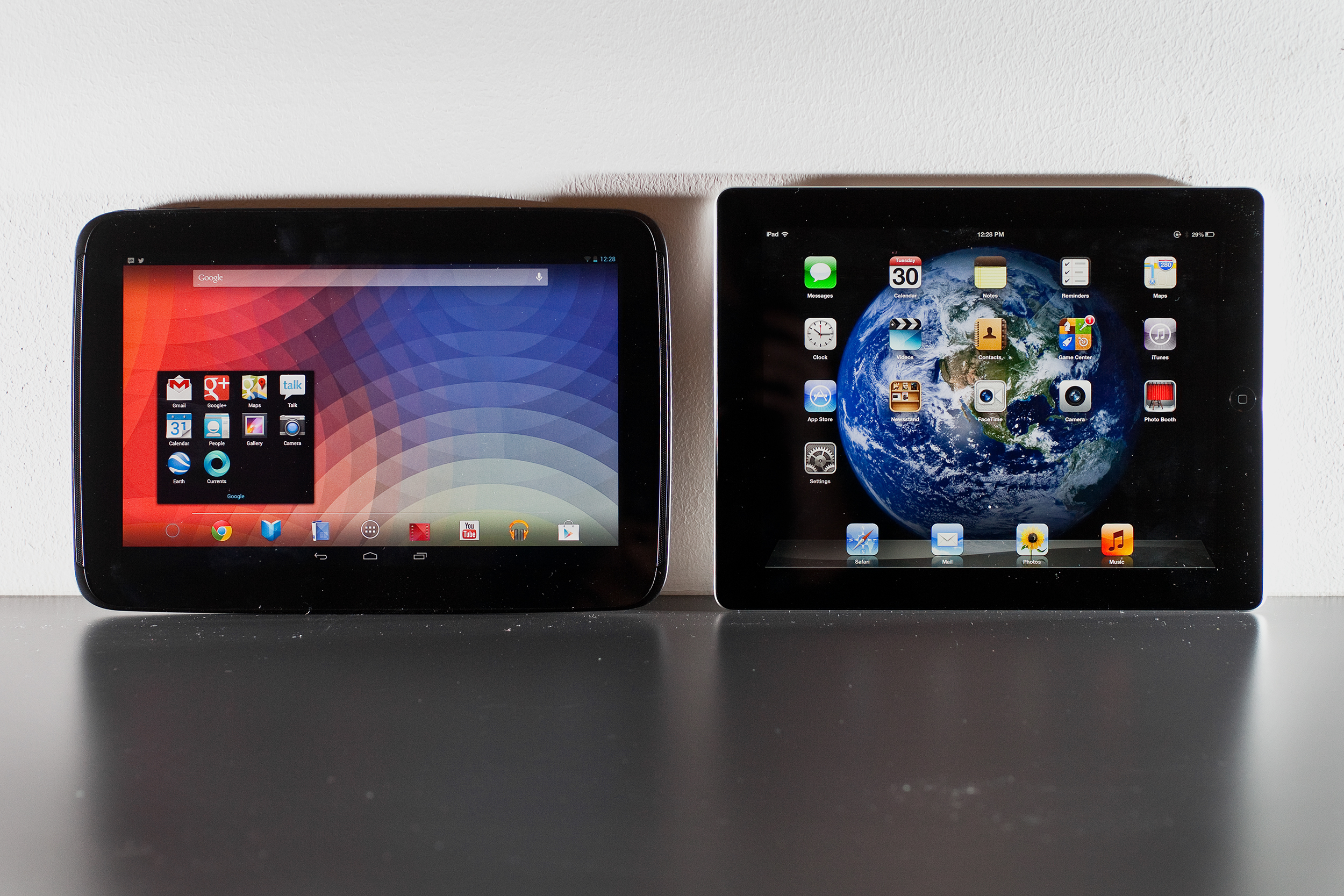 Confronto tra Nexus 10, iPad 4 e Galaxy Note 10.1