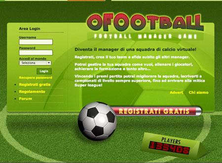 Con oFootball diventi manager di una squadra di calcio giocando dal tuo browser