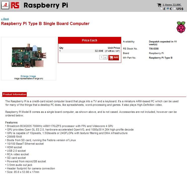 Raspberry Pi, partono i primi ordini dall'Italia per il microcomputer più economico al mondo