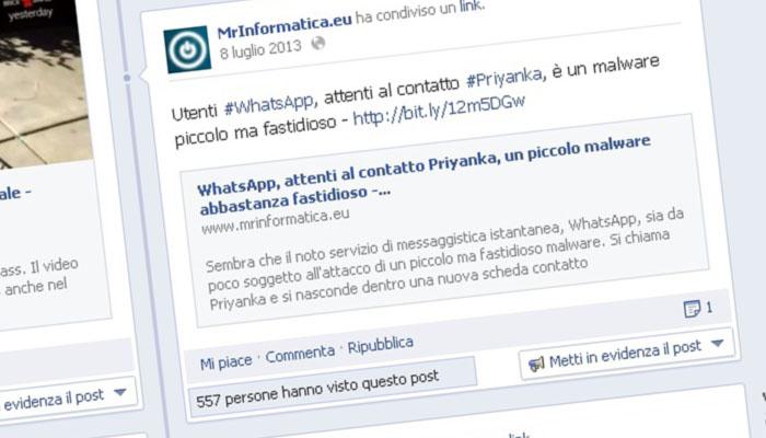 Facebook, addio al bottone Condividi
