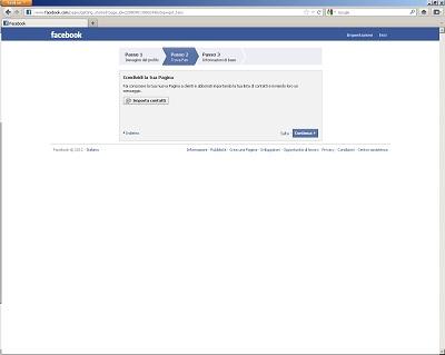Condividi la tua Pagina su Facebook