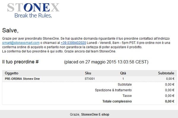 #StonexOne, al via i preordini. Guida al preordine