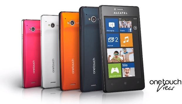 Alcatel One Touch View con Windows Phone 7.8 si mostra in un video promo