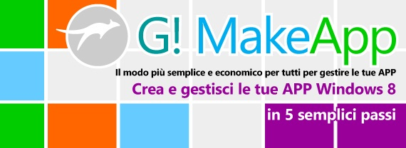 G!MakeApp, crea la tua App per Windows 8 in 5 passi